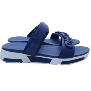 Fitflop Heda Chain Slides in Midnight Navy